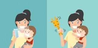 พัฒนาการลูกเสีย จากสมาร์ทโฟน ของพ่อแม่