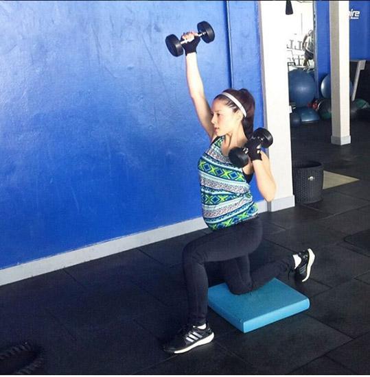 ลิเดีย แอน ออกกำลังกายช่วงตั้งครรภ์