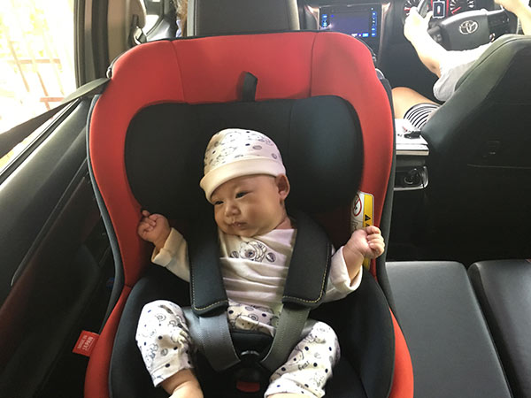 Leaman CarSeat neddy up red