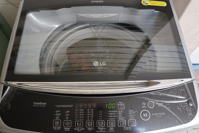 เครื่องซักผ้า lg ฝาบน