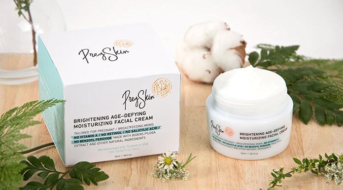ครีมบำรุงผิวหน้าใสที่คนท้องใช้ได้ PregSkin Brightening Age-Defying Moisturizing Facial Cream